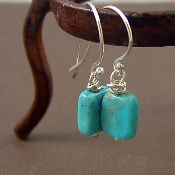 Turquoise Earrings - sterling silver
