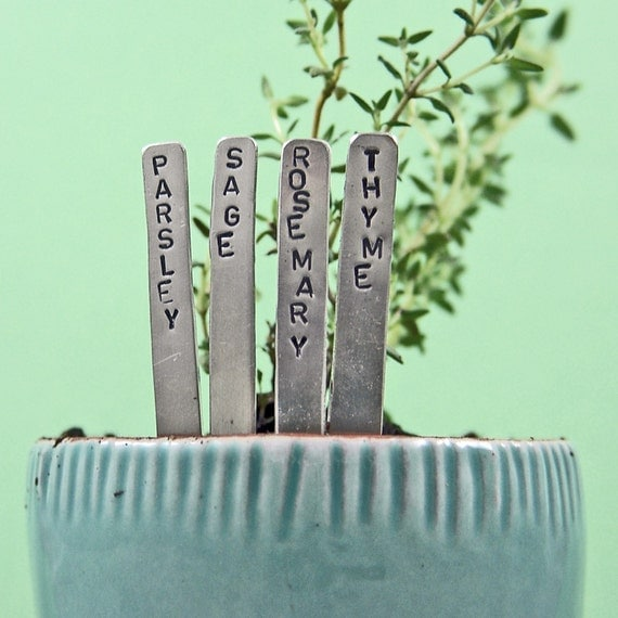 Herb Garden Plant Markers - Mini - Nickel