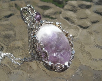 Cape Amethyst Pendant in Sterling Silver Genuine Amethyst Accent