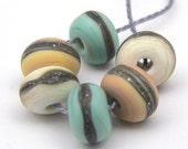 Lil' Rocks - Painted Desert - lampwork bead set - 6 beads