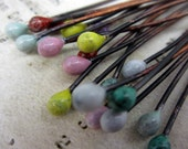 You pick the mix.  20 Handmade Copper Enamel Headpins