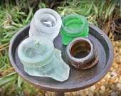 SEA GLASS Mixed Color Bottle Tops (4)