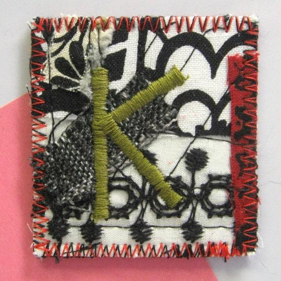 SALE Green Letter K - Magnet