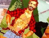 Pot holder - Lumberjack - Bearded Hunk - as seen in BUST Magazine