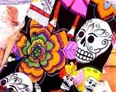 Pot holder - Mexican - Calaveras - Day of the Dead