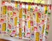 Cafe Curtains - Vintage - Kitsch - Apples - Berries