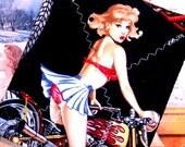 Biker Babe - Pinup Girl - Pot holder - Sex Kitten