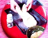 Pocket Mirror - Challah - Baking - OOAK - Braided Sweet Bread
