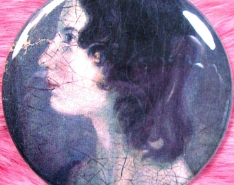 Pocket Mirror - Emily Brontë - Wuthering Heights - Victoriana