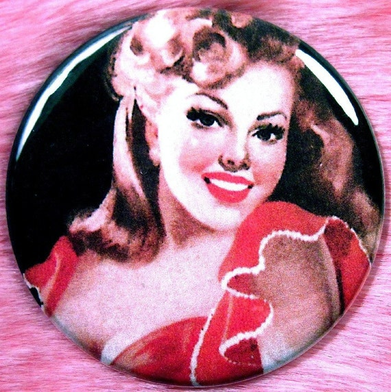 Vintage Pinup Girl - Pocket Mirror - Spanish Senorita - Gypsy Flamenco Dancer