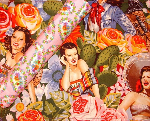 SASSY Pinup Girls Set of 4 RETRO Reversible Placemats