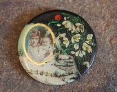 Antique Celluloid and Tintype Compact