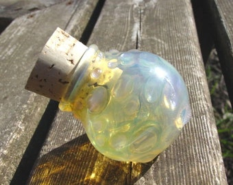 Sunshine Daze glass stash jar Made To Order