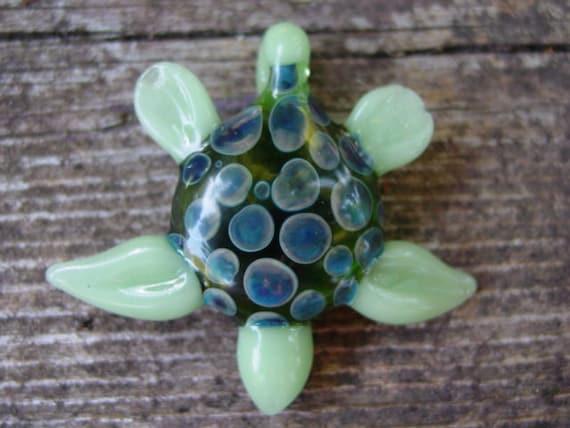 Sea Turtle glass boro pendant focal bead