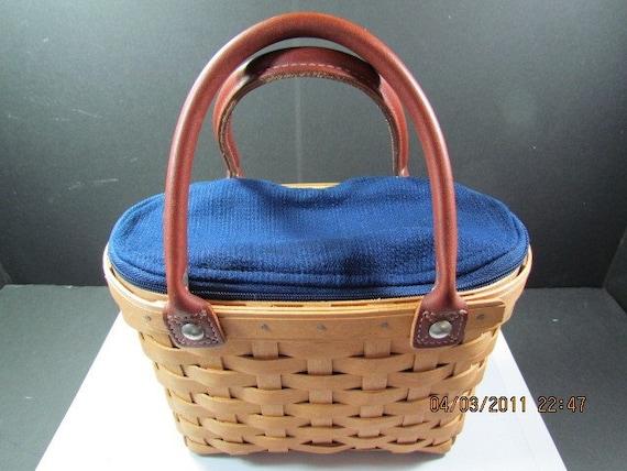Longaberger Small Boardwalk Basket Handbag By Blingthings