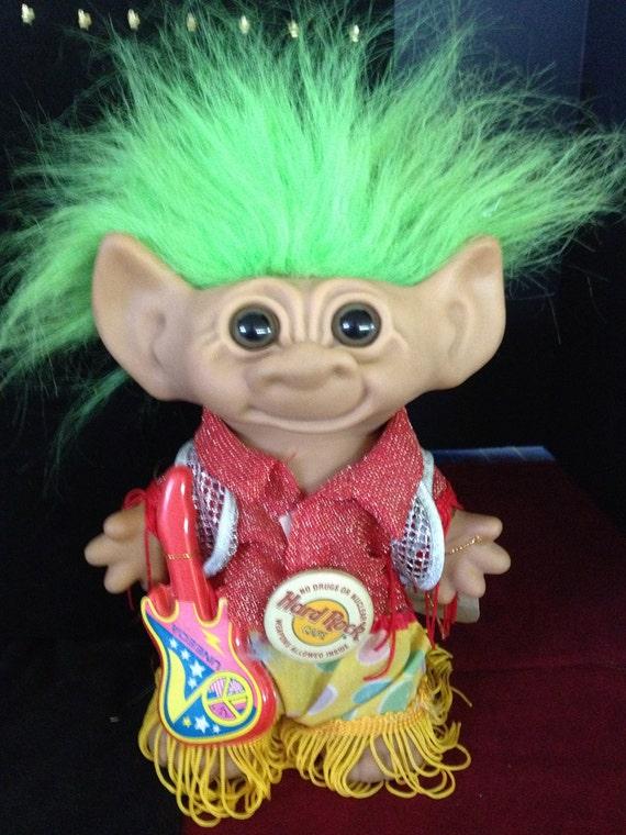 Rock n Roll 8 Inch Uneeda Troll Doll with Tag