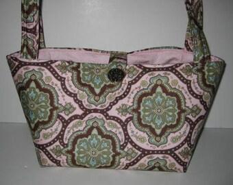 Handbag Purse | Amy Butler Charm Pink Covington Tile fabric | Small Bag