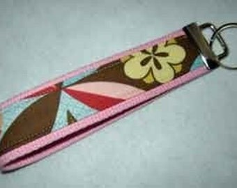 Key Fob Key Chain   Amy Butler Ginger Bliss Curry Kimono fabric