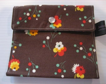 Wallet Business Card holder | Change Coing Purse | Flea Market Fancy fabric