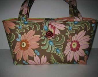 Handbag Purse Tote | Amy Butler Ginger Bliss | Curry Sun Dahlia