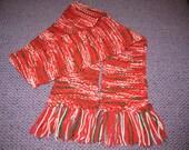 Acrylic handknit scarf