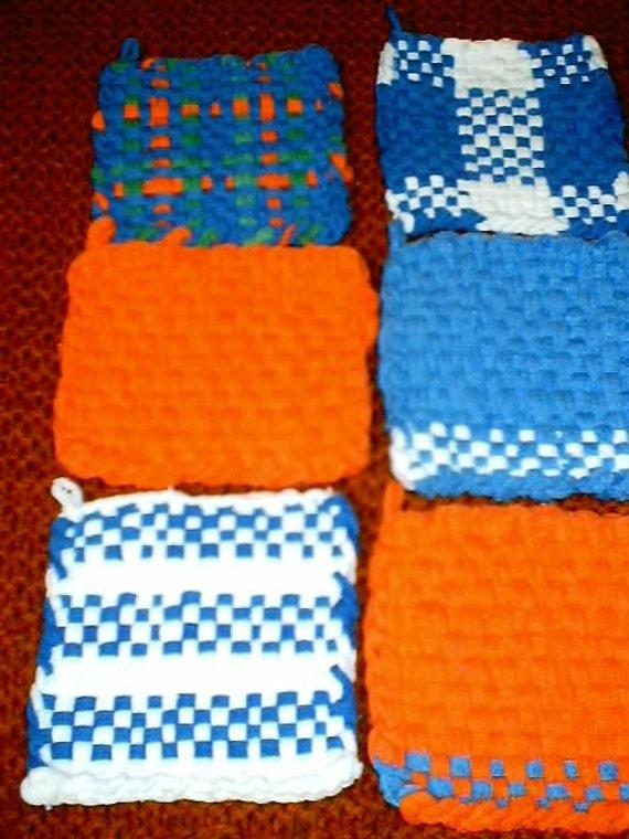 Handwoven Potholder or Mug Rugs