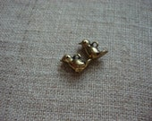 little bird charms -- gold finish (2)