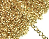 CLOSEOUT - CHIGP-RO50 - Chain, Rolo 5mm, Gold - 1 Meter