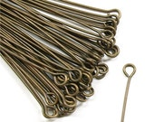 EPBAB-5021 - Eye Pin, 2 in/21 ga, Antique Brass - 50 Pieces (1pk)