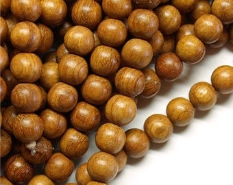 Wood Bead, Round 10mm, Bayong - Ten 16 Inch Strands