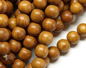 Wood Bead, Round 12mm, Bayong - 16 Inch Strand
