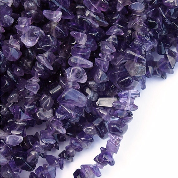CLOSEOUT - AMST-CH08 - Amethyst, Chip 5x8mm - 16 Inch Strand