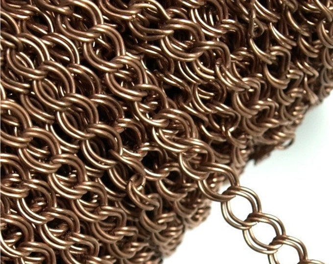 CLOSEOUT - CHIAC-cbd80 - Chain, Curb Double 8mm, Antique Copper - 1 Meter