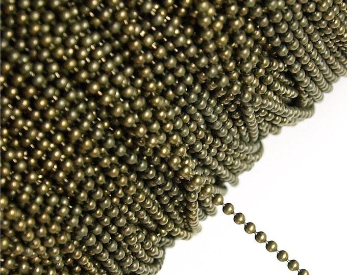Chain, Ball 1.5mm, Antique Brass - 1 Meter (CHBAB-bl15)