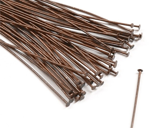 HPBAC-5024 - Head Pin, 2 in/24 ga, Antique Copper - 50 Pieces (1pk)