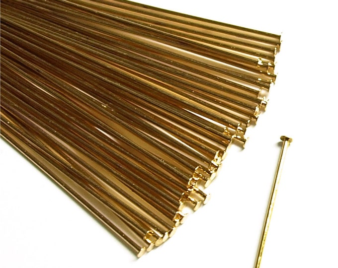 HPBGP-5021 - Head Pin, 2 in/21 ga, Gold - 50 Pieces (1pk)