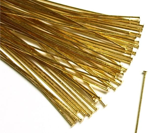 HPBGP-5024 - Head Pin, 2 in/24 ga, Gold - 50 Pieces (1pk)