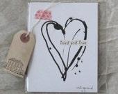 Set of 8 postcards, Heart, Love, Valentine