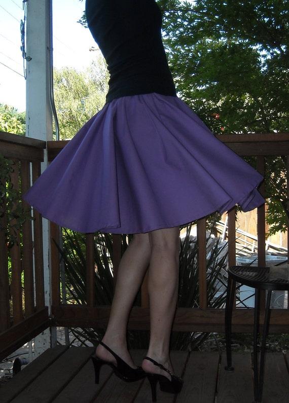 Purple Circle Skirt Custom Made Any Size Womens skirt Cotton Full Skirt