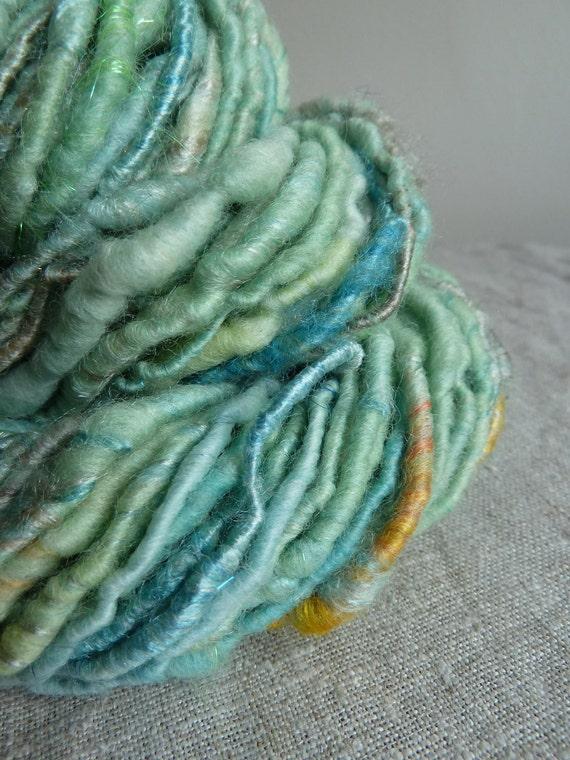 Handspun yarn, art yarn, corespun, mermaid's hair