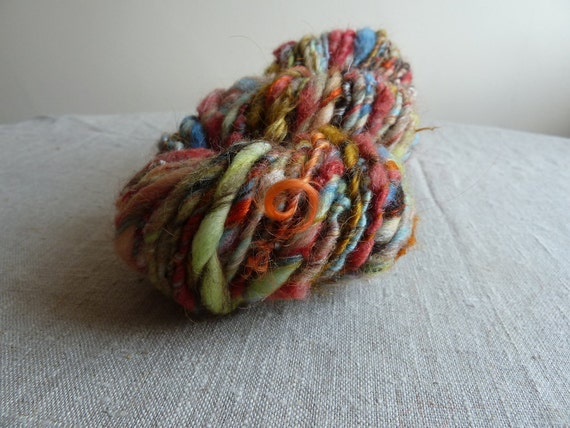 Handspun yarn, lots of texture, 4.4oz