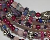 Pink and Purple Memory Bracelet