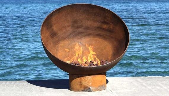 The Meridian 37 Inch Modern Steel Firebowl