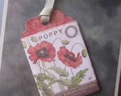 Poppy Seed Packet Tag Card