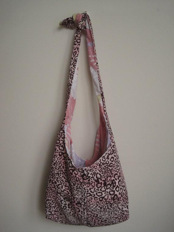SALE Leopard Hobo Bag