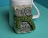 Green Tea Glycerine Soap with Crochet Scarf