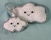 Every cloud has a silver lining -- crochet PATTERN