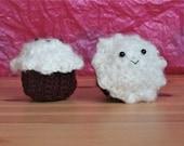 Smiling Red Velvet Cupcake -- Crochet