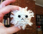 Frowny White Blood Cell - Crochet Plush