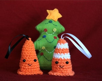 Set of Safety Cone Ornaments